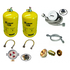 Gaslow Refillable Gas Cylinders - Twin Bottle Kits