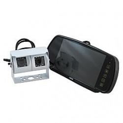 """Ranger 430 - 7"""" Clip-over Mirror Monitor / Dual Reversing Camera"""
