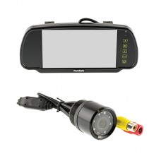 "Parksafe 7"" Clip On Mirror Monitor With Bumper Mount Camera"