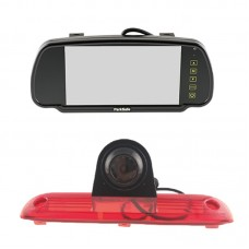 "Parksafe 7"" Clip On Mirror Monitor with Fiat Ducato, Citroen Relay, Peugeot Boxer light camera"