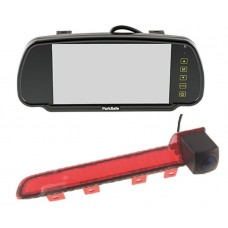 "Parksafe 7"" Clip On Mirror Monitor with T5/T6 Brake light camera"
