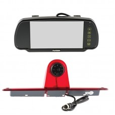 "Parksafe 7"" Clip On Mirror Monitor with Mercedes Sprinter, Volkswagen Crafter light camera"