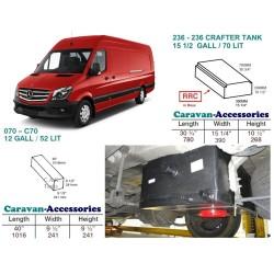 CAK Fresh and Waste Water Tanks - Mercedes Sprinter & VW Crafter LWB (2006 Onwards)