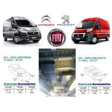 CAK Fresh and Waste Water Tanks - Ducato, Boxer, Relay X250 X290
